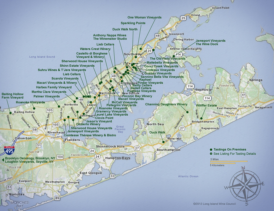 Vineyards Long Island Ny Map
