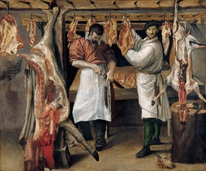 "Annibale Carracci's ""The Butcher's Shop."" (Wikimedia.)"