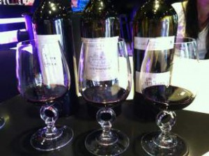 """Traditional Cahors glasses. They say if you put your finger in it, you're """"engaged"""" and committed to the region."""