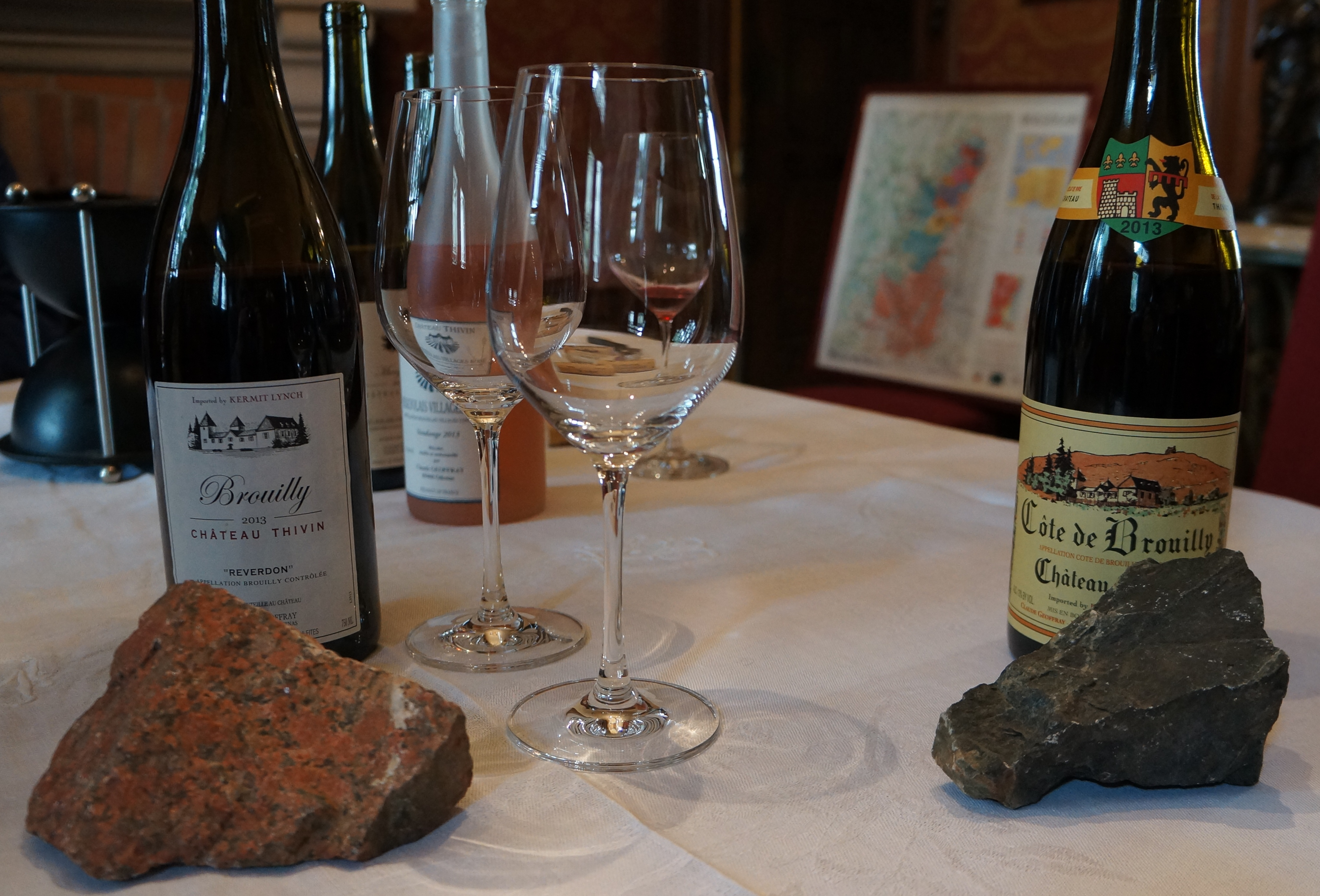 Exploring the differences between Brouilly and Cote de Brouilly.