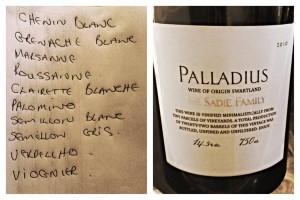 "Terroir-driven ""recipe"" for Palladius"