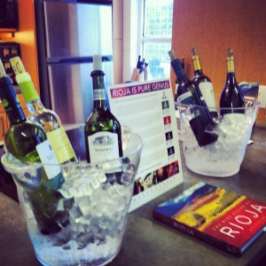 White Rioja on ice at an event 07/2013