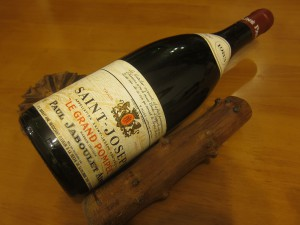 Bottle of St.-Joseph wine. (Wikimedia)