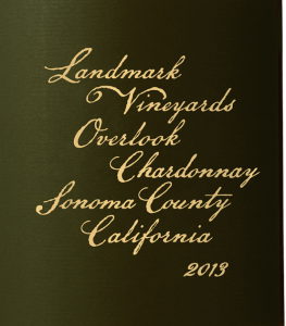 Landmark Vineyards Overlook Chardonnay 2013, one of Richard Jennings' top grocery store chardonnays. (Source: Landmark Vineyards)