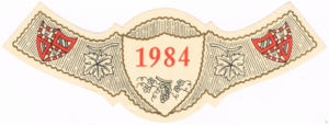 Label showing the Burgundy coat of arms (Wikimedia)