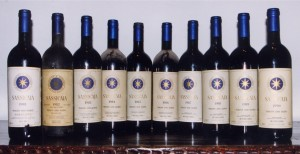 Bottles of Sassicaia. (Wikimedia)