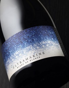 Ultramarine wine label.