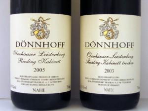 Dönnhoff Kabinett and Kabinett Trocken labels. (Source: Wikimedia)
