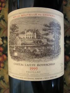 Château Lafite Rothschild label. (Wikimedia)