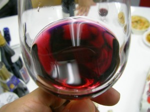 Glass of Beaujolais Nouveau wine. (Wikimedia)