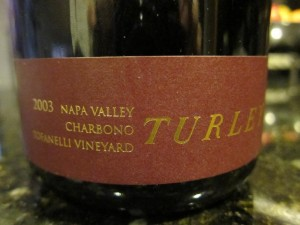 A Turley Charbono bottling from 2003. (Wikimedia)