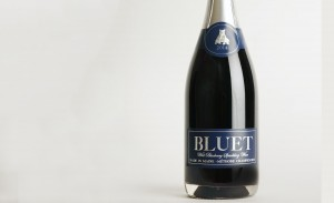 Bluet, a sparkling wine made from wild blueberries. (Source: Bluet)
