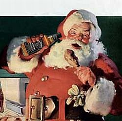 Santa typically unwinds with chicken wings & Jack.