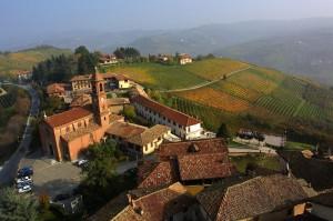 In Piedmont: Serralunga d'Alba and its vineyards. (Wikimedia)